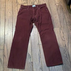Old Navy Burgundy corduroys